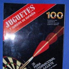 Juguetes antiguos: REVISTA CATALOGO JUGUETES Y JUEGOS DE ESPAÑA NUMERO 100 DICIEMBRE 1986. Lote 103565534