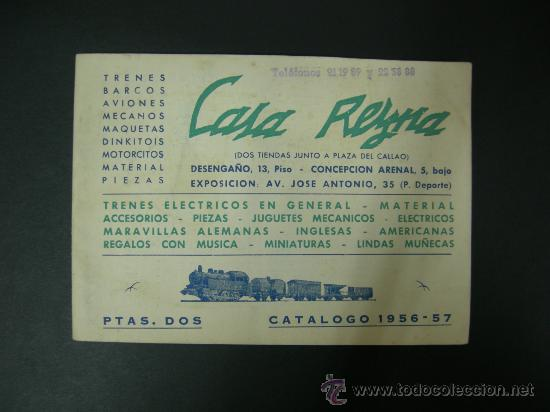 CATALOGO JUGUETES 1956-57 CASA REYNA MADRID, TRENES ELC. PAYA, ELECTROTREN, MECANO......, VER FOTOS (Juguetes - Catálogos y Revistas de Juguetes)