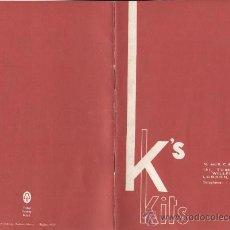 Juguetes antiguos: CATÁLOGO K'S KEYSER KITS BRASS LAITON BRONCE 1963 2ND. Lote 26783820
