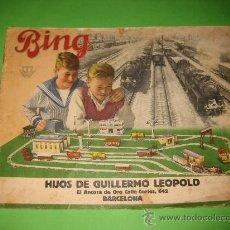Juguetes antiguos: CATALOGO DE BING-TRENES ESCALA 0.. Lote 27608245