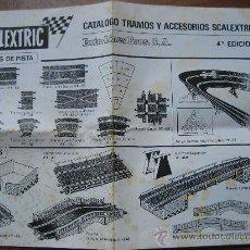 Juguetes antiguos: SCALEXTRIC. 1970. CATALOGO TRAMOS Y ACCESORIOS. EXIN-LINES BROS. S.A. 4ª EDICION.. Lote 24461192