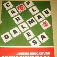 Juguetes antiguos: CATALOGO GENERAL DE JUGUETES DALMAU CARLES PLA Y TARIFA DE PRECIOS - 1974. Lote 23612842