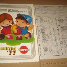 Juguetes antiguos: ANTIGUO CATALOGO CARLOS DINNBIER - 1977 - VER FOTOS. Lote 23852435