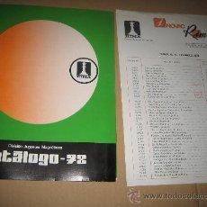 Juguetes antiguos: ANTIGUO CATALOGO RIMA - JUEGOS MAGNETICOS - AÑO 1978 - CON TARIFA DE PRECIOS. Lote 24141904