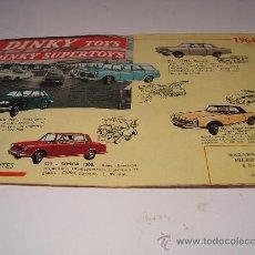 Juguetes antiguos: CATALOGO DINKY TOYS Y DINKY SUPERTOYS DE 1964.. Lote 27257064