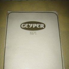Juguetes antiguos: GEYPER - ANTIGUO CATALOGO - 1971 - VER FOTOS. Lote 25163023