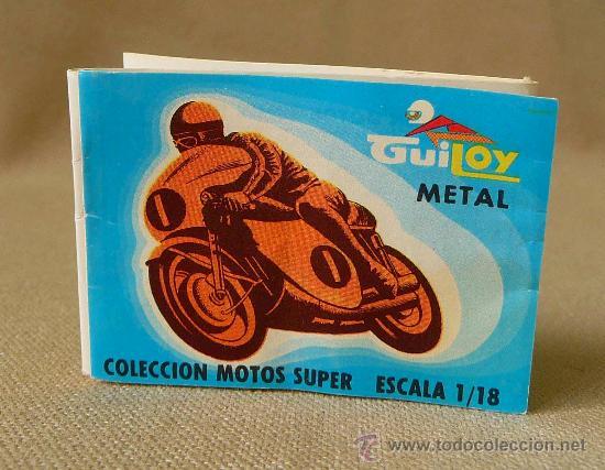 CATALOGO, CATALOGO DE JUGUETES, GUILOY METAL, COLECCION MOTOS SUPER, ESCALA 1/88 (Juguetes - Catálogos y Revistas de Juguetes)
