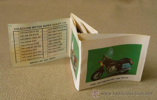 Juguetes antiguos: CATALOGO, CATALOGO DE JUGUETES, GUILOY METAL, COLECCION MOTOS SUPER, ESCALA 1/88 - Foto 2 - 25902728