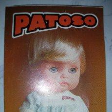 Juguetes antiguos: CATALOGO PATOSO. Lote 25908292