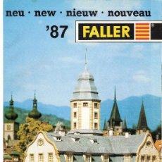 Juguetes antiguos: CATALOGOS FALLER 87 - 88 Y VOLMER 87. Lote 26881214