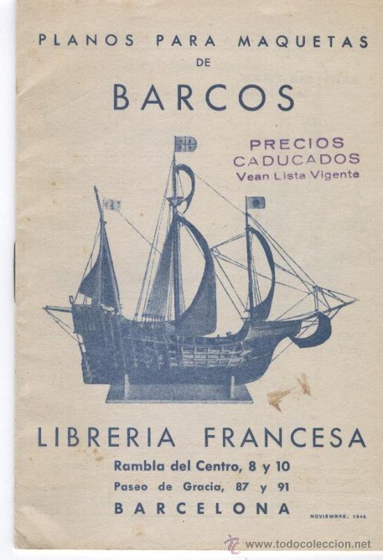 CATALOGO DE PLANOS PARA MAQUETAS DE BARCOS (Juguetes - Catálogos y Revistas de Juguetes)