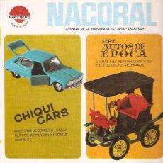Juguetes antiguos: NACORAL- ANUNCIO DE LOS AÑOS 70 - 22 X 30 CMS - VELL I BELL. Lote 29336892
