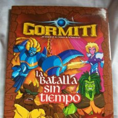 Juguetes antiguos: LIBRO GORMITI - LA BATALLA SIN TIEMPO - COMIC - CON POSTER, NUEVO MAPA DE LA ISLA GORM, JUEGOS. Lote 29722252