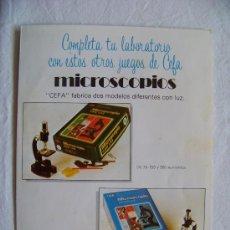 Juguetes antiguos: CATALOGO ANTIGUO JUEGOS CEFA AÑOS 80. Lote 30441618