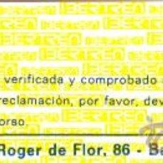 Juguetes antiguos: TARJETA DE CONTROL DE IBERTREN. Lote 30225849