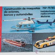 Juguetes antiguos: CATÁLOGO COLOR DE GRAUPNER FSP 79/80/SP -CONSTRUCCIÓN DE MAQUETAS DE AVIONES, BARCOS Y AUTOMÓVILES. Lote 30274791