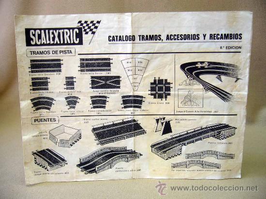 CATALOGO, SCALEXTRIC, TRAMOS ACCESORIOS Y RECAMBIOS, 8º EDICION, CHAPARRAL G.T. 6215 (Juguetes - Catálogos y Revistas de Juguetes)