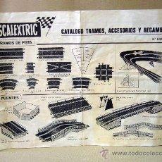 Juguetes antiguos: CATALOGO, SCALEXTRIC, TRAMOS ACCESORIOS Y RECAMBIOS, 8º EDICION, CHAPARRAL G.T. 6215. Lote 30906486