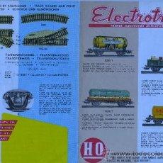 Juguetes antiguos: CATALELOGODIPTICO DE ELECTROTEN - TREN- H. FOURNIER SA VICTORIA VER FOTO ADICIONAL. Lote 31317526