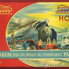 Juguetes antiguos: CATALOGO JUGUETES, PAYA, TREN TRENES ESCALA HO ,IBI ALICANTE ,1960 ,ORIGINAL. Lote 31321307