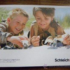 Juguetes antiguos: CATALOGO PUBLICITARIO JUGUETES SCHLEICH 2011 ( ANIMALES, DINOSAURIOS, GUERREROS ,JINETES). Lote 31763346
