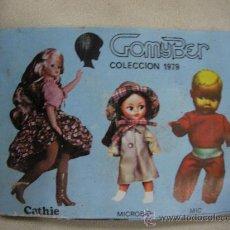 Juguetes antiguos: ANTIGUO CATALOGO COLECCION 1979 GOMYBER - COLECCION CATHIE - MICROBIO - MIC - ENVIO GRATIS A ESPAÑA. Lote 175987244
