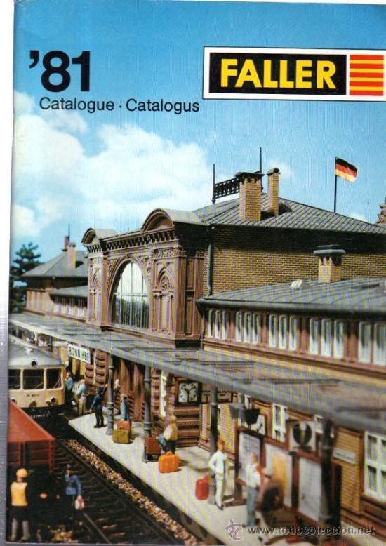 CATÁLOGO FALLER, 81, REVISTA DE MAQUETAS DE ESTACIONES DE TREN (Juguetes - Catálogos y Revistas de Juguetes)
