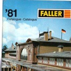 Juguetes antiguos: CATÁLOGO FALLER, 81, REVISTA DE MAQUETAS DE ESTACIONES DE TREN. Lote 32177208