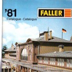 Juguetes antiguos: CATÁLOGO FALLER, 81, REVISTA DE MAQUETAS DE ESTACIONES DE TREN. Lote 32177212