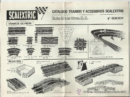CATÁLOGO TRAMOS Y ACCESORIOS SCALEXTRIC - 1970 (Juguetes - Catálogos y Revistas de Juguetes)