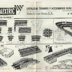 Juguetes antiguos: CATÁLOGO TRAMOS Y ACCESORIOS SCALEXTRIC - 1970. Lote 32422715