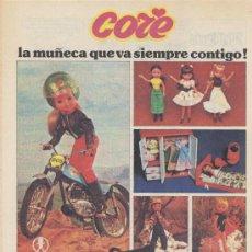 Juguetes antiguos: ANUNCIO MUÑECA *CORE* - VESTIDOS Y ACCESORIOS BB. Lote 32441293