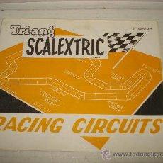 Juguetes antiguos: ANTIGUO DESPLEGABLE DE RACING CIRCUITOS DE SCALEXTRIC TRIANG EXIN 3ª EDICIÓN DE 1966. Lote 32618647