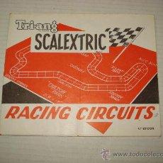 Juguetes antiguos: ANTIGUO DESPLEGABLE DE RACING CIRCUITOS DE SCALEXTRIC TRIANG EXIN 4ª EDICIÓN DE 1967. Lote 32618654