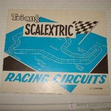 Juguetes antiguos: ANTIGUO DESPLEGABLE DE RACING CIRCUITOS DE SCALEXTRIC TRIANG EXIN 5ª EDICIÓN DE 1968. Lote 32618658