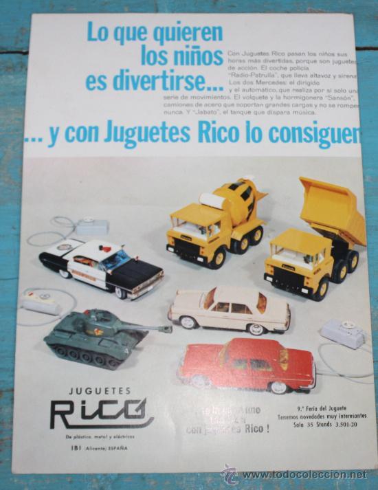 ANTIGUA LAMINA CATALOGO DE JUGUETES RICO Y POR EL ANVERSO JUGUETES BREKAR - CARLOS DINNBIER - TAMAÑ (Juguetes - Catálogos y Revistas de Juguetes)