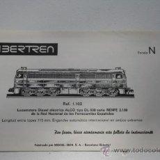 Juguetes antiguos: IBERTREN LOCOMOTORA DIESEL ELECTRICA ALCO INSTRUCCIONES DE MANTENIMIENTO. Lote 33406873