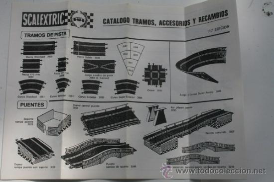 SCALEXTRIC CATALOGO TRAMOS ACCESORIOS Y RECAMBIOS 11ª EDICIÓN AÑOS 70 (Juguetes - Catálogos y Revistas de Juguetes)