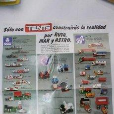Juguetes antiguos: CATALOGO DESPLEGABLE TENTE 1978. Lote 33406956