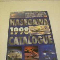 Juguetes antiguos: CATALOGO HASEGAWA 1998 MAQUETAS MODELOS A ESCALA. Lote 34499534