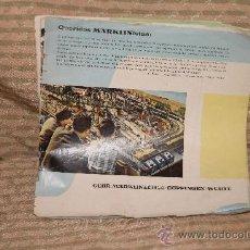 Juguetes antiguos: 2078- BONITO CATALOGO DE TRENES MARKLIN.1961/62. . Lote 34640237