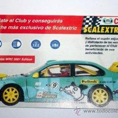 Juguetes antiguos: FOLLETO CLUB SCALEXTRIX TECNITOYS , EPOCA DE TECHNITOYS. Lote 35349316