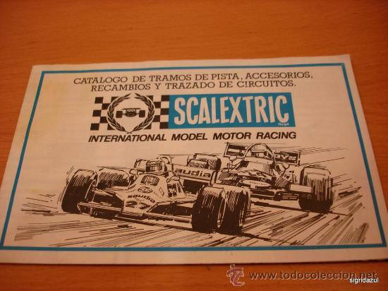 SCALEXTRIC EXIN CATALOGO TRAMOS ACCESORIOS, RECAMBIOS 1981 (Juguetes - Catálogos y Revistas de Juguetes)