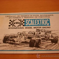 Juguetes antiguos: SCALEXTRIC EXIN CATALOGO TRAMOS ACCESORIOS, RECAMBIOS 1981. Lote 35424158