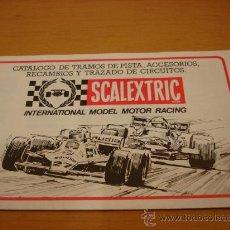 Juguetes antiguos: SCALEXTRIC EXIN CATALOGO PISTAS, ACCESORIOS RECAMBIOS 1982. Lote 35424181