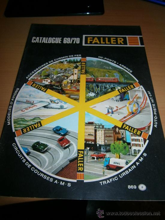 CATALOGO FALLER, 1969/70, MAQUETAS, AVIONES, SLOT. (Juguetes - Catálogos y Revistas de Juguetes)