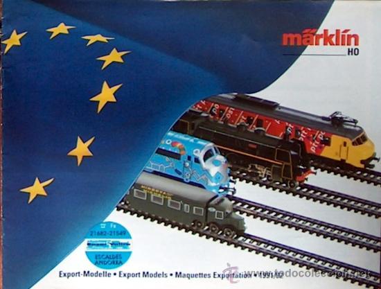 1992 MÄRKLIN  CATALOGUE  DES  MODELES  EXPORT  1991