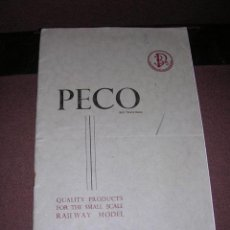 Juguetes antiguos - TRENES - CATALOGO PECO 1953 -CATALOGUE GUIDE -1/6 QUALITY PRODUCTS FOR THE SMALL SCALE RAILWAY MODEL - 36595217