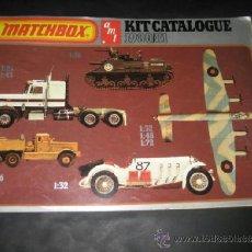 Juguetes antiguos: CATALOGO JUGUETES MATCHBOX AÑO 1980 / 81. ESTAR TREK, COCHES, AVIONES, TANQUES, BARCOS CAMIONES . Lote 47574499