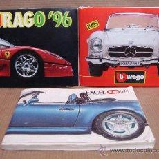 Juguetes antiguos: 3 CATALOGOS JUGUETE - COCHES BURAGO 1995 1996 Y EXCEL - COCHE METAL CATALOGO . Lote 36908683